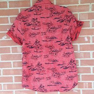 Rustic Blue Shirts - Rustic Blue Hawaiian floral shirt, L